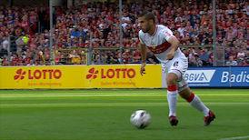 1. Halbzeit: SC Freiburg - VfB Stuttgart