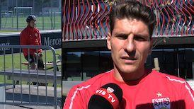 Mario Gomez nach dem Spiel beim SC Freiburg