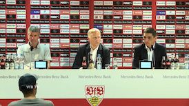 Pressekonferenz: VfB Stuttgart - Fortuna Düsseldorf