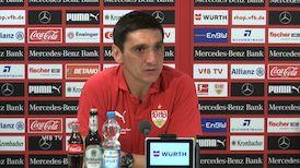 Die Pressekonferenz vor dem Spiel gegen Werder Bremen
