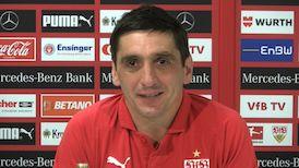 Die Pressekonferenz vor dem Spiel in Hannover