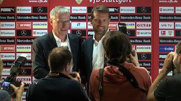 Die Präsentation von VfB Cheftrainer Markus Weinzierl