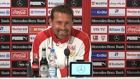 Die VfB PK vor dem Spiel gegen Borussia Dortmund