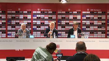 Pressekonferenz: VfB Stuttgart - Borussia Dortmund