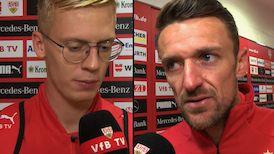 Die VfB Interviews nach dem Spiel gegen Borussia Dortmund