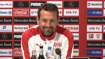 Die VfB Pressekonferenz vor dem Spiel in Nürnberg