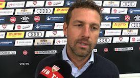 VfB Coach Markus Weinzierl nach dem Spiel in Nürnberg