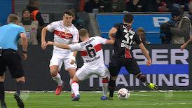 1. Halbzeit: Leverkusen - VfB Stuttgart