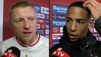 Die Interviews nach dem Spiel gegen Bayer 04 Leverkusen