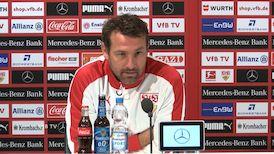Die VfB Pressekonferenz vor dem Spiel gegen Augsburg