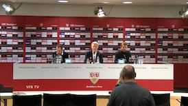 Pressekonferenz nach VfB - FC Augsburg