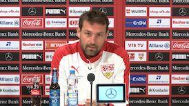 Die VfB Pressekonferenz vor dem Hertha-Spiel