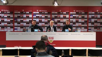 Pressekonferenz: VfB Stuttgart - Hertha BSC Berlin