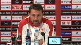 Die Pressekonferenz vor dem Spiel gegen Schalke