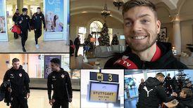 Alexander Esswein und der VfB Tross starten ins Trainingslager nach La Manga
