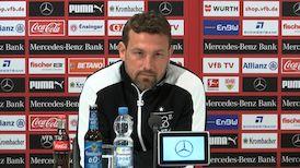 Die VfB PK vor dem Rückrundenstart gegen den 1. FSV Mainz 05