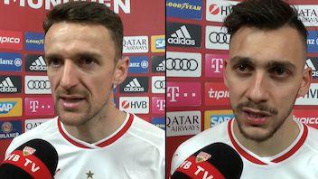 Die Interviews nach dem Spiel beim FC Bayern München
