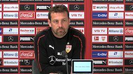 Die Pressekonferenz vor dem Duell gegen Freiburg