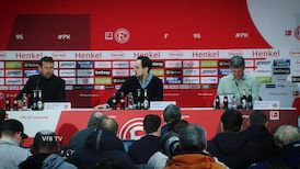 Pressekonferenz: Fortuna Düsseldorf - VfB Stuttgart