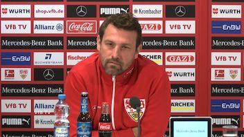 Die Pressekonferenz vor dem Spiel gegen Leipzig