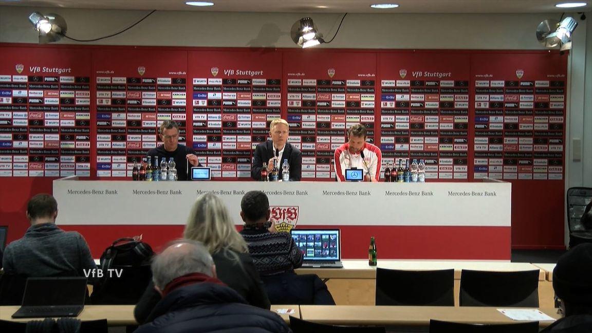 Pressekonferenz: VfB Stuttgart - RB Leipzig