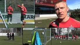 Andreas Beck beim Trainingsauftakt vor Hoffenheim