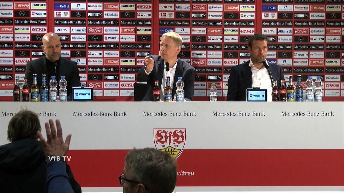 Pressekonferenz nach VfB - Bayer 04 Leverkusen