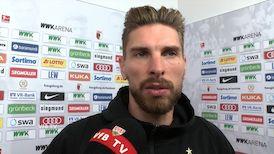 Ron-Robert Zieler nach dem Spiel in Augsburg