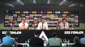 Die Pressekonferenz von Borussia Mönchengladbach
