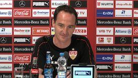 Die Pressekonferenz vor dem Spiel in Berlin