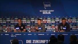 Pressekonferenz nach Hertha BSC - VfB