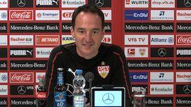 Die Pressekonferenz vor dem Spiel in Gelsenkirchen