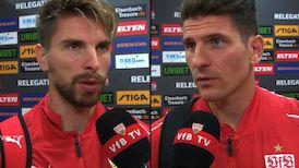 Die Interviews nach dem Relegations-Hinspiel