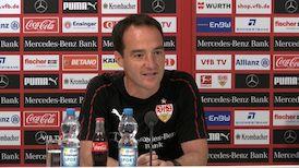 Die Pressekonferenz vor dem Relegations-Rückspiel