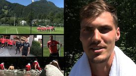 Tag 2 im Trainingslager mit Pascal Stenzel