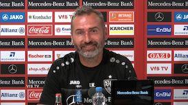 Die Pressekonferenz vor dem DFB-Pokalspiel in Rostock