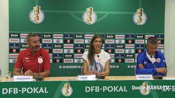 Die Pressekonferenz nach dem Pokalspiel