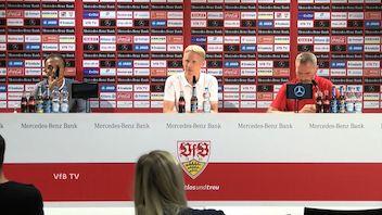 Pressekonferenz: VfB Stuttgart - FC St. Pauli