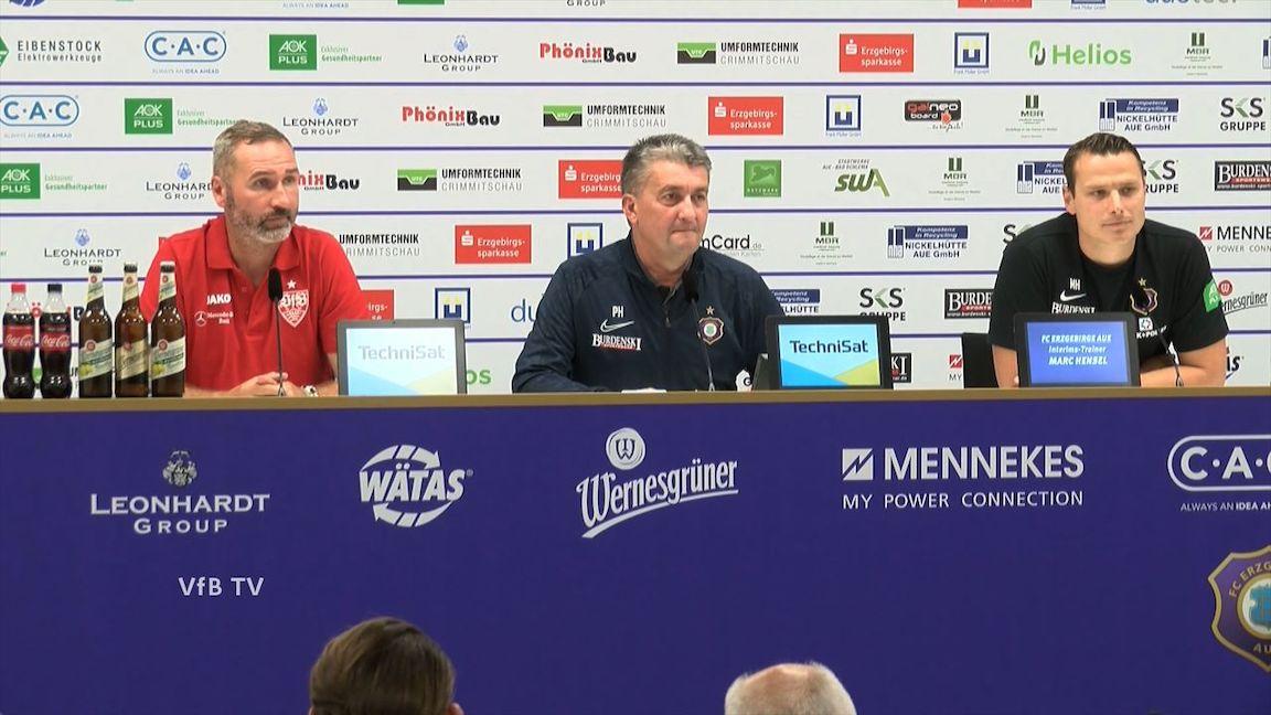 Pressekonferenz: FC Erzgebirge Aue - VfB Stuttgart