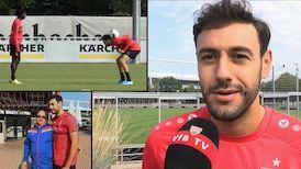Hamadi Al Ghaddioui vor dem Spiel gegen Jahn Regensburg