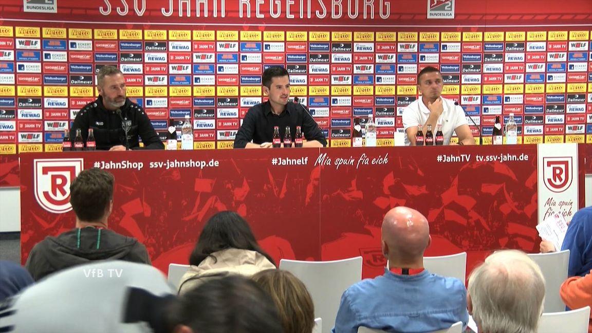 Pressekonferenz: SSV Jahn Regensburg - VfB Stuttgart