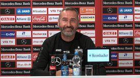 Die VfB PK vor dem Spiel beim DSC Arminia Bielefeld