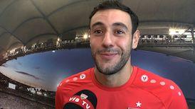 Hamadi Al Ghaddioui nach dem DFB-Pokalspiel in Hamburg