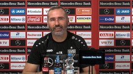 Die Pressekonferenz vor dem Duell gegen Dresden