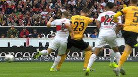 1. Halbzeit: VfB Stuttgart - Dresden