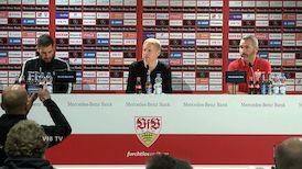 Pressekonferenz: VfB Stuttgart - Dynamo Dresden