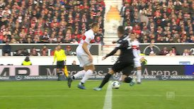 1. Halbzeit: VfB Stuttgart - Karlsruhe