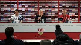 Pressekonferenz: VfB Stuttgart - Karlsruher SC