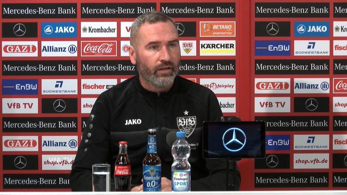 Die VfB Pressekonferenz vor Darmstadt