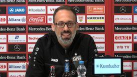 Die Pressekonferenz vor dem DFB-Pokalspiel in Leverkusen